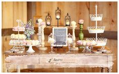 VINTAGE cupcake table ideas | Real Rustic Picnic Wedding: Michelle & Paul - Part 2