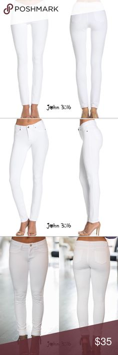 chic skinnies Incredibly comfy, soft and stretchy - a great staple to any look - dressed up or down 😍 These run fitted but have great stretch to them but if you are in between sizes go up 1 size. 95% cotton 5% spandex - price is firm - rise 9'   ✔️JEGGINGS - a legging made to RESEMBLE a tight- fitted pair of jeans and made of stretchable fabric   Small waist with stretch between 26&28 Medium waist between 28&30 Large waist between 30&32 XLarge waist between 32&34 Boutique Pants Skinny
