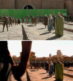 Escenas de cine y televisión antes y después de los efectos visuales