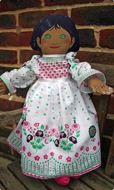 Black Haired 'Polly' Retro Rag Doll Kit