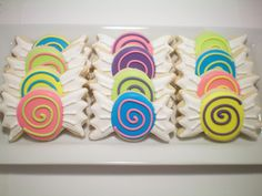 Wrapped Candy sugar cookies. $25.00, via Etsy.  ?4Audrey's party?
