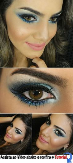Clothes for Romantic Night - Blue Makeup. Because Everything Is Sexier In Blue. Visit www. to find out what everyone is talking about. - If you are planning an unforgettable night with your lover, you can not stop reading this! Blue Eyeshadow, Eyeshadow Makeup, Makeup Brushes, Makeup Brands, Best Makeup Products, Makeup Companies, Glamour, Makeup Advertisement, Passion Hair