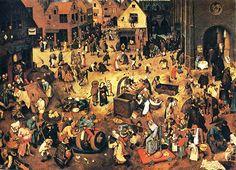 A luta entre o Carnaval e a Quaresma - Pieter Brugel, 1559