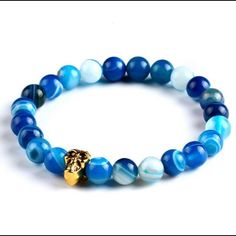New! Women & Men's Stone Skull Bracelet. New Without Tags. See Buddha In My Closet. Jewelry Bracelets