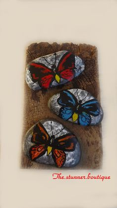 Rustic design and painted rocks from The Stunner Boutique https://www.facebook.com/pages/The-Stunner-Boutique/456809484484281