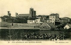 """""""Vue générale des Saintes-Maries"""". Edit. Marcheteau, Arles. Anni 1900."""