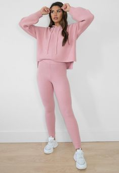 Premium Rose Co Ord Knit Joggers | Missguided Co Ord, Discount Shopping, Missguided, Pink Roses, Rib Knit, Lounge Wear, Joggers, Knitting, Tricot