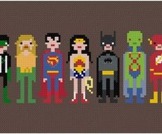 Super heros cross stitch, officially on my craft to do list