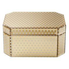 gold dot jewelry box @Target