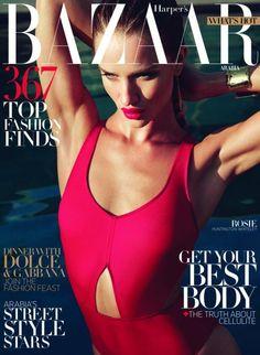 Harper's Bazaar Arabia April 2012: Rosie Huntington-Whiteley