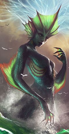 Sea Goddess by *jameszapata on deviantART (cropped for detail)