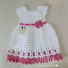Baby Girl Crochet Dress, Baby Shower Gift Little Girl Dress, Chevron Dress ,Baby Crochet Dress, Grey Pink Baby Dress Crochet Dress Girl, Crochet Baby Dress Pattern, Baby Girl Crochet, Crochet Baby Clothes, Beau Crochet, Crochet Mignon, Cute Crochet, Formal Dress Patterns, Dress Formal