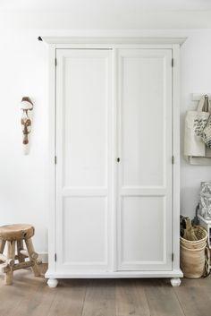 For Sale: Our Beautiful Countryside Home near Amsterdam White Closet, White Wardrobe, Wabi Sabi, Interior Architecture, Interior Design, Dream Home Design, Scandinavian Style, Scandinavian Interiors, Tall Cabinet Storage