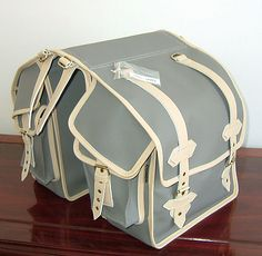 Crystalyte Bags and Covers Panniers: With a wide variety of styles and material to choose from, Crystalyte Bags and Covers is bound to have a pannier that will make your bike look that much better (while also getting the job done). Since each bag is made to order, prices vary.