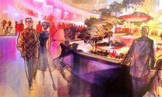 John Hench, Carousel of Progress - Dapper Day Inspiration Disney Style, Disney Art, Vintage Disney Posters, Original Disneyland, Disney Dapper Day, Concept Draw, Disney Concept Art, Inspirational Artwork, World's Fair