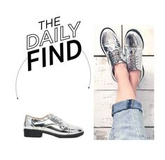 """""""The Daily Find: Asos Silver Brogues"""" by polyvore-editorial ❤ liked on Polyvore featuring ASOS, women's clothing, women's fashion, women, female, woman, misses, juniors and DailyFind"""