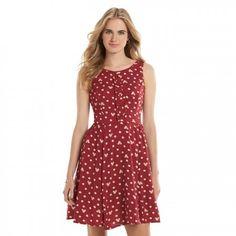 Lauren Conrad x Minnie Mouse Red Dot Print Fit & Flare Dress
