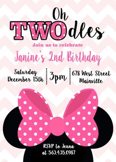 Free editable minnie mouse birthday invitations minnie mouse sba print myself we take your wording and create the invitation image which is emailed to you ready to print it comes as a 5x7 or 4x6 jpg photo solutioingenieria Images