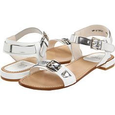 Stuart Weitzman - Bebop (White Patent) - Footwear -  Stuart Weitzman  Bebop (White Patent)  Footwear 6pm.com is proud to offer the Stuart Weitzman  Bebop (White Patent)  Footwear: Set a stunning tone for your look with these polished sandals from Stuart Weitzman. ; Two-tone patent leather upper. ; Adjustable buckle...