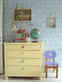 kids room + chest of drawers