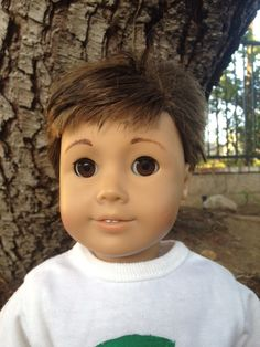 Our American Dolls: Boy Doll Project.  Like the hair.