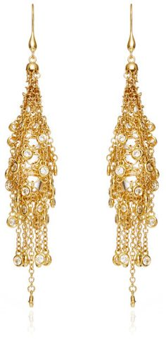 Wilfredo Rosado 18K Yellow Gold Fringe Earrings Gold