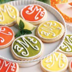 Monogrammed Cookies Recipe from tasteofhome.com
