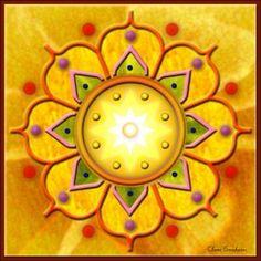 Natural art of the mandala Mandala Art, Sun Mandala, Scrapbooking, Mellow Yellow, Yellow Art, Sacred Art, Fractal Art, Sacred Geometry, Plexus Products