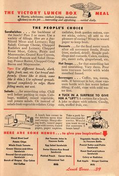 Victory Lunch Box: 1943 Betty Crocker Your Share - Wartime Meal Planning