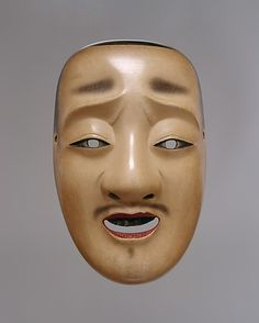 Chûjô Mask for a Noh Drama Genkyu Michinaga (Japanese, active second half of the 17th century) Period: Edo period (1615–1868) Date: 18th century Culture: Japan Medium: Painted wood Dimensions: W. 5 1/2 in. (14 cm); L. 8 1/2 in. (21.6 cm) Classification: Mask