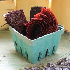Fruit Leather Recipes - Great Flavours = Peanut Butter Banana , Plum Chai Tea, Strawberry Balsamic, Blueberry Lemoande.