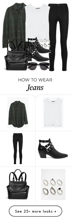 """Style #10253"" by vany-alvarado on Polyvore featuring J Brand, Madewell, ASOS, Yves Saint Laurent and Givenchy"
