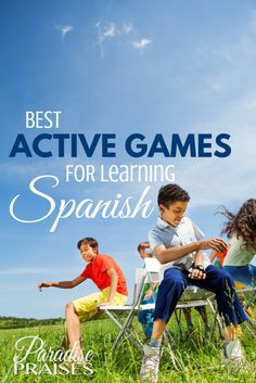 Best games for learning Spanish. You must be active when learning a language. These games for learning Spanish will get you out of the books and into the action! Spanish Games For Kids, Spanish Lessons For Kids, Preschool Spanish, Spanish Basics, Elementary Spanish, Spanish Activities, Preschool Class, Toddler Activities, Spanish Phrases