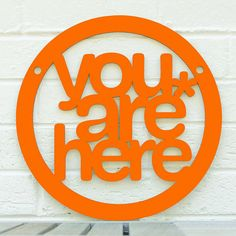 You are Here MINI (meditate, be present, mindfulness) on Etsy, $15.00
