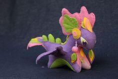 Soft toy dragon fantasy plush animal textile toys Soft sculpture children, fabric toy, handmade, favorite toy