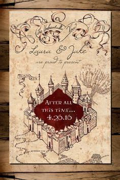 Harry Potter Marauder's Map Save the Date Digital