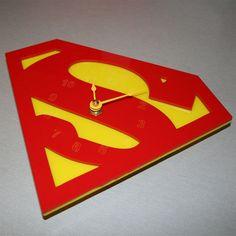 Superman Clock by alantronics on Etsy, $26.50