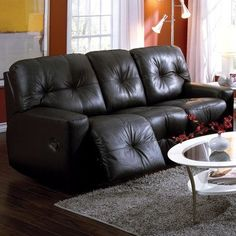 Palliser Furniture Mystique Console Loveseat Upholstery: All Leather Protected - Tulsa II Stone, Type: Manual