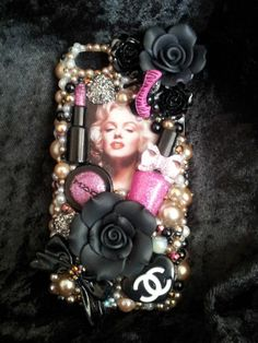 Marilyn Monroe Homemade  PINK Case Cover Handmade Rhinestones Fits iPhone 5C #Smartphone #Cover #Case