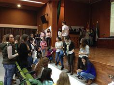 Sesión de música, movimiento y emociones con l@s alumn@s de 4º curso del Grado de Educación Infantil. #MonstruoDeLaLaguna #Turuta #BuenosDíasDonGaspar #ShinyEyes
