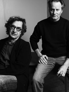 Sam Shepard and Wim Wenders photographed by Mark Abrahams