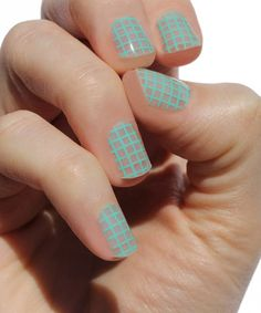 Look at this #zulilyfind! Mint Waffle Nail Wrap - Set of Two #zulilyfinds