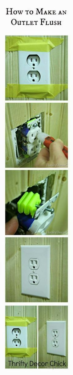 A tutorial on how to make your outlet flush