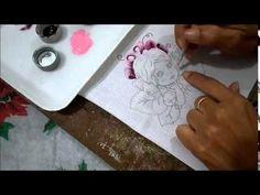 Ivanildartes: Passo a Passo Pintura em Tecido (parte-1) - YouTube