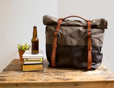 The HotShot Large Weekender Bag in Brown Leather and by AwlSnap