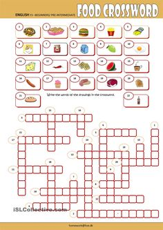 Food Crossword