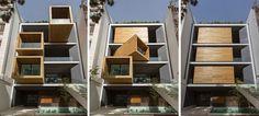 Architecture - Iran : Un cabinet d'architectes de Téhéran.... a construit une maison dont la pièce côté fenêtre peut pivoter entre les murs! En appuyant simplement sur un bouton, la pièce pivote et...