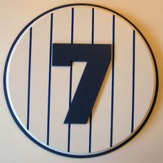 Retired Number 7 Plaque Yankees Mickey Mantle - large