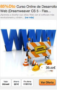 85%Dto Curso Online de Desarrollo Web (Dreamweaver CS 5 - Flash CS 5.5 ) #oferta