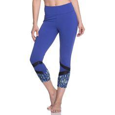 Women's Gaiam Om Align Yoga Capri Leggings ($48) ❤ liked on Polyvore featuring orange oth and gaiam